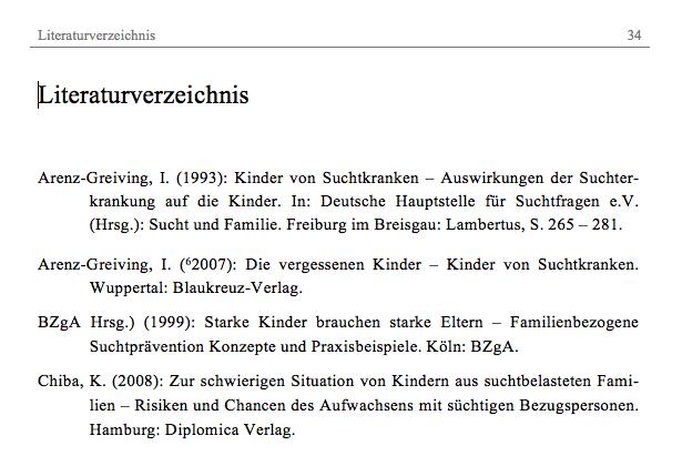 Hausarbeit Literaturverzeichnis Apa Zitation