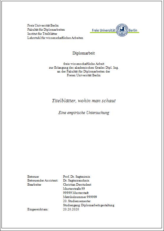 Bachelorarbeit: Textverarbeitung und Typografie mit Wor